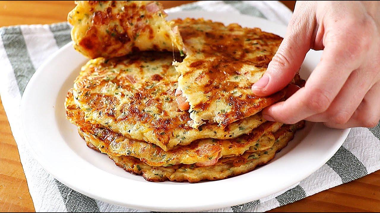 Tortillas rellenas en 10 minutos - Solo mezclar y verter en la sartén. Receta muy fácil