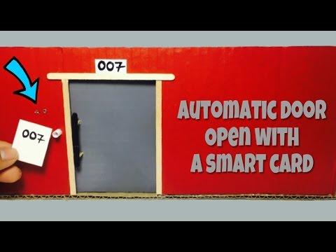 DIY Mini hotel door auto-slide with a smart card. thumbnail