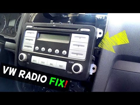 VW RADIO NOT WORKING NOT TURNING ON FIX - YouTube