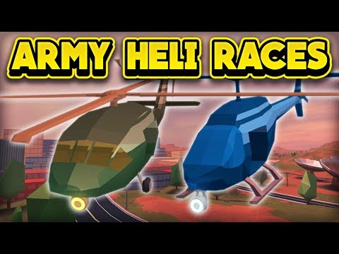 RACING THE NEW ARMY HELICOPTER! (ROBLOX Jailbreak)
