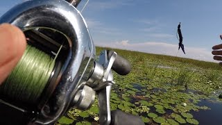 I Miss Florida Fishing...  Flipping and Pitching for Bass at Lake Okeechobee 10/9/15
