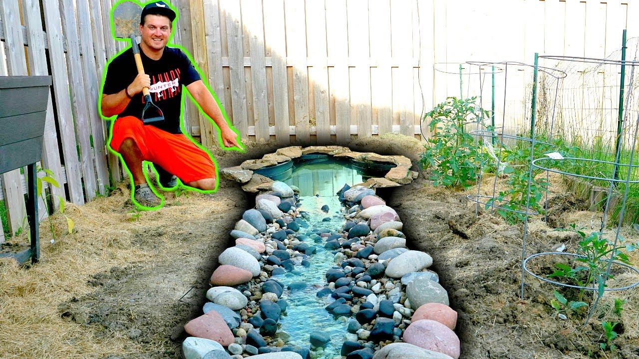 Building a Backyard Creek for NEW PET FISH!!!