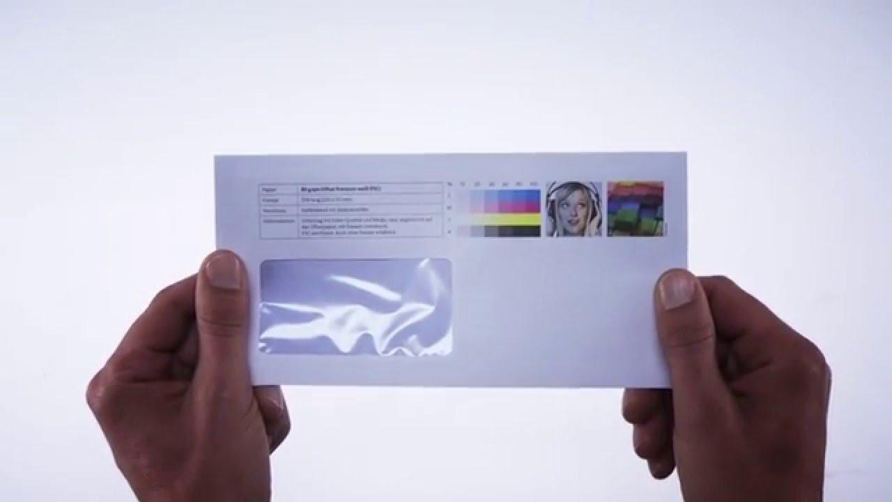Briefumschläge Mit Fenster Druckerei Laserline Youtube