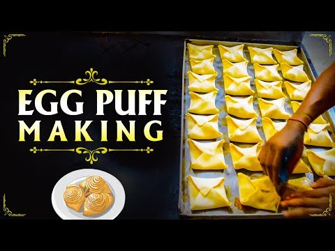 Egg Puff Making | Indian Street Food | Puff Making - Egg, Curry, Paneer, Chicken