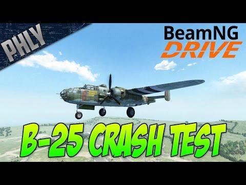 BeamNG CRASH TESTING! B-25 BOMBER - This THINGS AMAZING