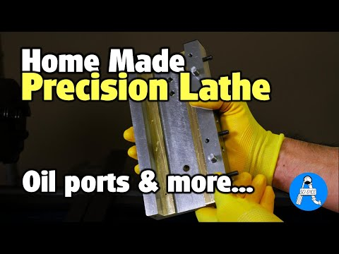 DIY precision mini lathe - part 6 oil ports and more