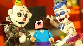 FNAF Sister Location и Лего НУБик Майнкрафт Лего Пять Ночей с Фредди ФНАФ и LEGO Minecraft