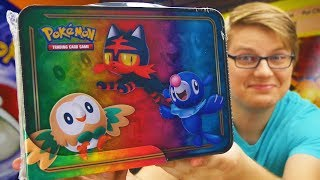 Pokemon Sun and Moon Collector's Tin Lunch Box TCG Opening