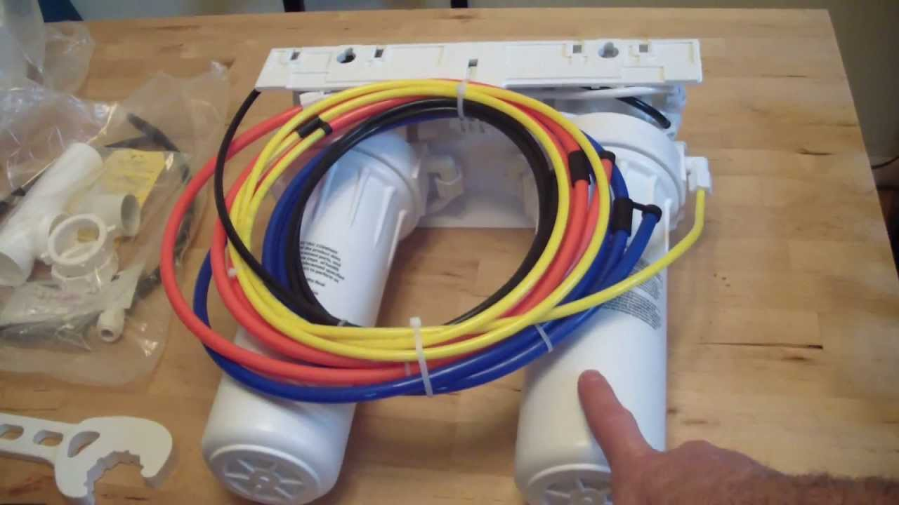 how to install a reverse osmosis water filter system [ 1280 x 720 Pixel ]