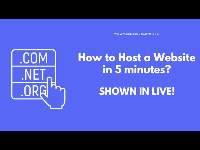 How to host a Domain in 5 minutes | Hosting a Website