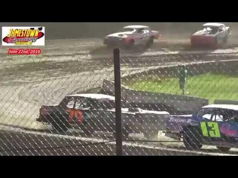 Jamestown Speedway WISSOTA Street Stock Heats (6/22/19)