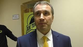 """Послематчевое интервью главного тренера ХК """"Темиртау"""""""