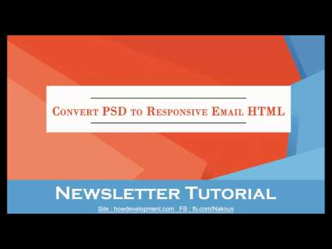 HTML: Convert PSD to Responsive Email newsletter