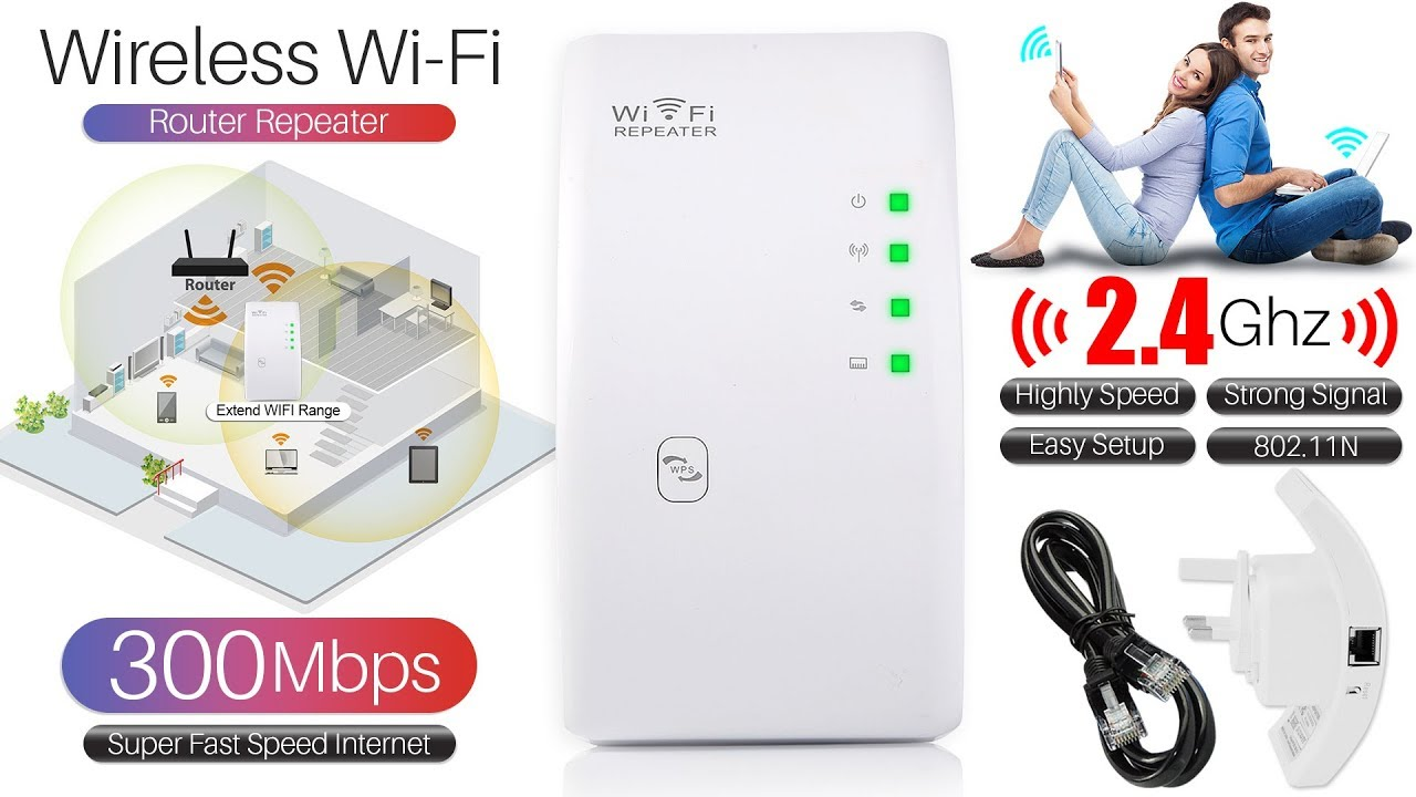 DHMXDC Wireless-N 300Mbps WiFi Range Extender Wireless Router//Repeater//AP//WPS Mini Dual External Antennas Wireless Booster Signal Wireless Access Point