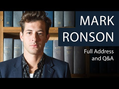 Mark Ronson  Full Address and Q&A  Oxford Union