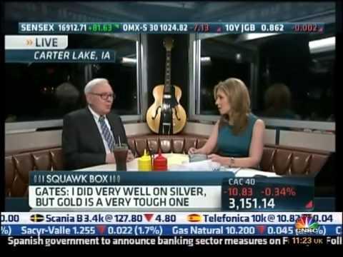 Warren Buffett CNBC - Gold, Silver & Paper Money (07.05.12)