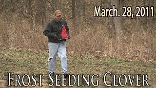 Midwest Whitetail | Frost Seeding Clover Food Plots
