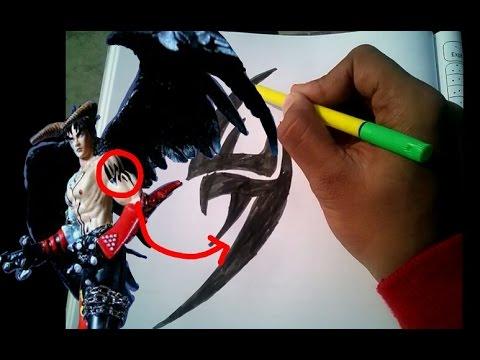 Free Sketching Jin Kazama S Tattoo Youtube