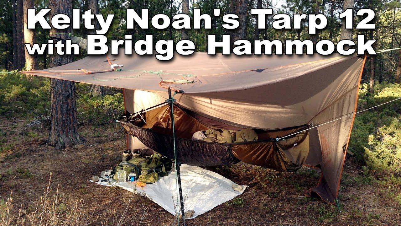 kelty noah u0027s tarp 12 with a bridge hammock   hammock camping with the warbon  ridgerunner kelty noah u0027s tarp 12 with a bridge hammock   hammock camping with      rh   youtube