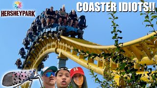 Coaster Idiots Go To Hersheypark - Skyrush Reopens  Lantern Flies Take Over