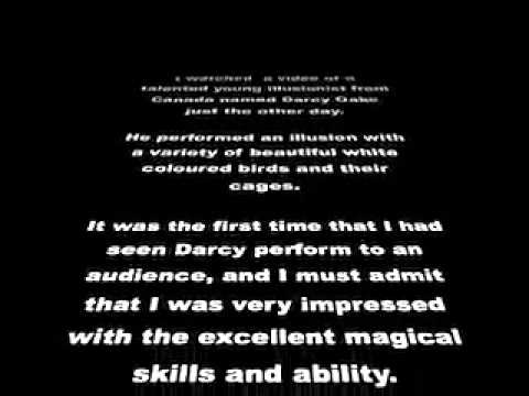 Darcy Oakes jaw-dropping dove illusions - his magic is great to see