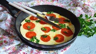 Жареный сыр сулугуни с помидорами
