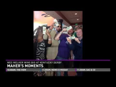 Maher's Moments:  Wes Welker hands out $100 bills at Kentucky Derby
