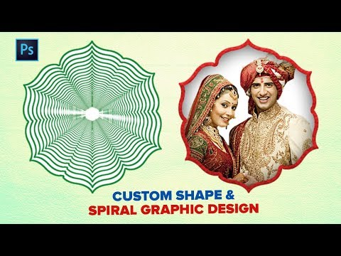 How To Create Trend Custom Shape Design In Photoshop | New Frame & Border & Spiral Graphics