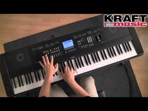 Kraft Music - Yamaha DGX-650 Portable Grand Digital Piano Demo with Dane Madsen