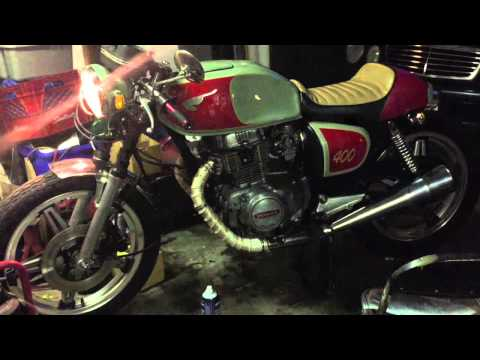 78 Honda CB400A Hondamatic Cafe Racer