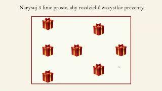 Zagadka Mikołajkowa - 3 Liniami Rozdziel Wszystkie Prezenty