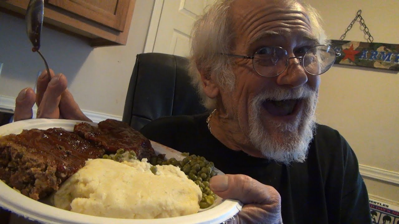 GRANDPA EATS PICKLEBOYS MEATLOAF! - YouTube