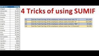 4 Tricks of Using SUMIF in Excel
