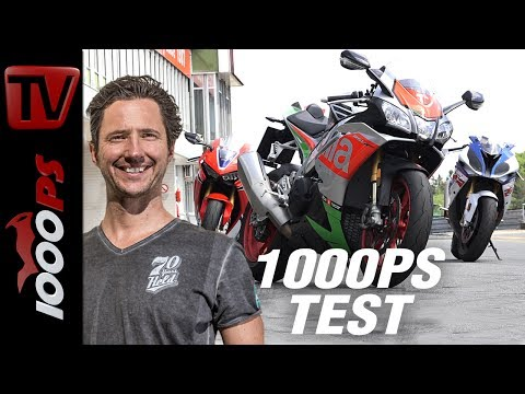 1000PS Test - Honda CBR1000RR Fireblade SP vs. Aprilia RSV4 RF vs. BMW S 1000 RR