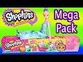 Shopkins Season 3 MEGA 20 Pack Blind Bags  with Disney Frozen Queen Elsa Doll - Toy Unboxing