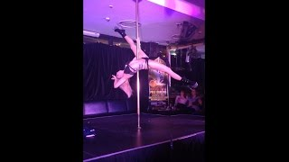 Lorna Shadow performing at the Vertical Limits pole dancing competition at The Ranch Hotel