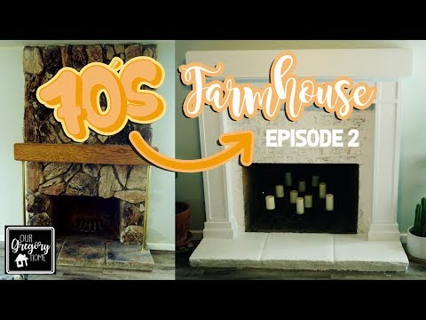 DIY FIREPLACE MAKEOVER | FAUX GERMAN SMEAR | 70S TO FARMHOUSE