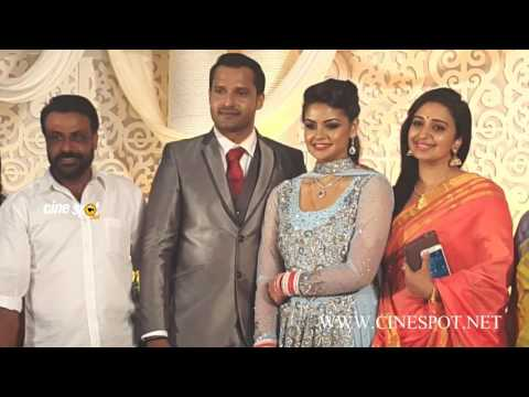 Sona Nair at Shilpa bala wedding reception