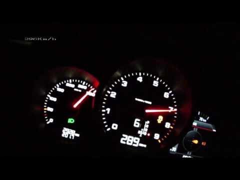 Porsche Cayman S 981 2013 - acceleration 0-275 km/h + Vmax test