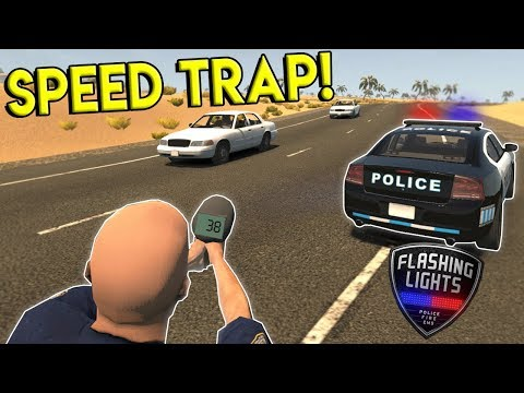 POLICE SPEED TRAP & FIGHTING A BUILDING FIRE! - Flashing Lights Gameplay - Police Chase Simulator