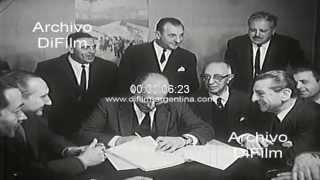 DiFilm - Rubens San Sebastian suscribe acuerdo con Augusto Vandor 1966