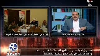 محمد الباز: إجمالي التبرعات من المصريين لصندوق تحيا مصر 7.5 مليار جنيه مصري .. فيديو