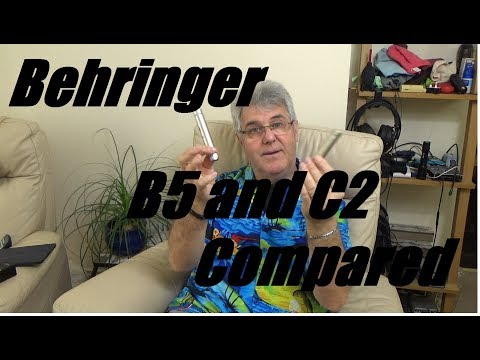 Behringer B5 and C2 Pencil Mics Compared - Both Low Noise Pencil Mics