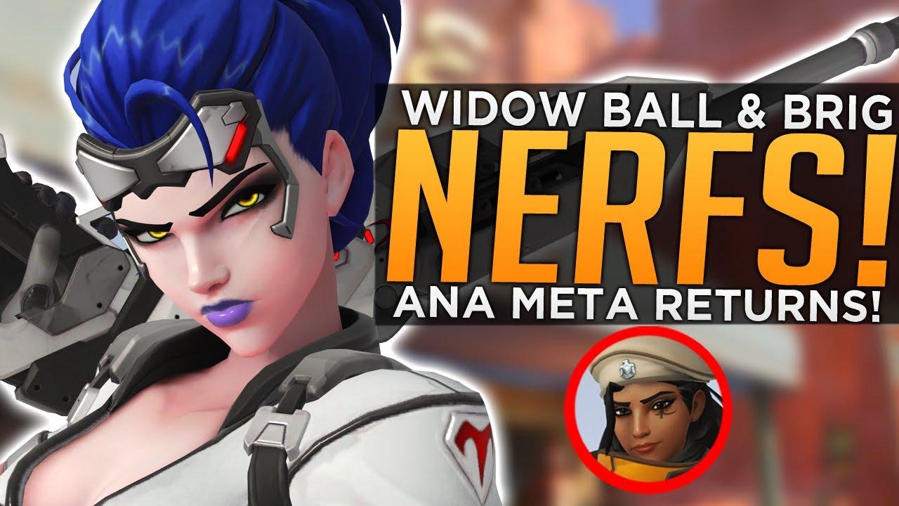 Overwatch: Widowmaker, Ball & Brigitte NERFS! - Ana Meta is BACK! thumbnail