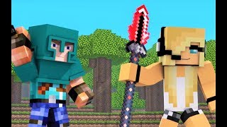 "Minecraft Song & Animation 1 HOUR! ""Little Square Face 5"" with Psycho Girl - Best Minecraft Songs"