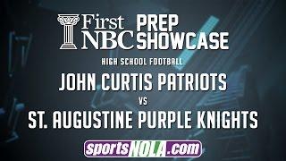 john curtis vs st augustine football first nbc bank prep showcase