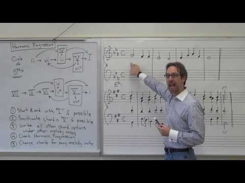 Dr. B Music Theory Lesson 15 (Harmonic Progression)