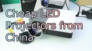 Cheap LED Projectors from China - How good are portable projectors under 100$ ? PS4 Gaming Test [HD]