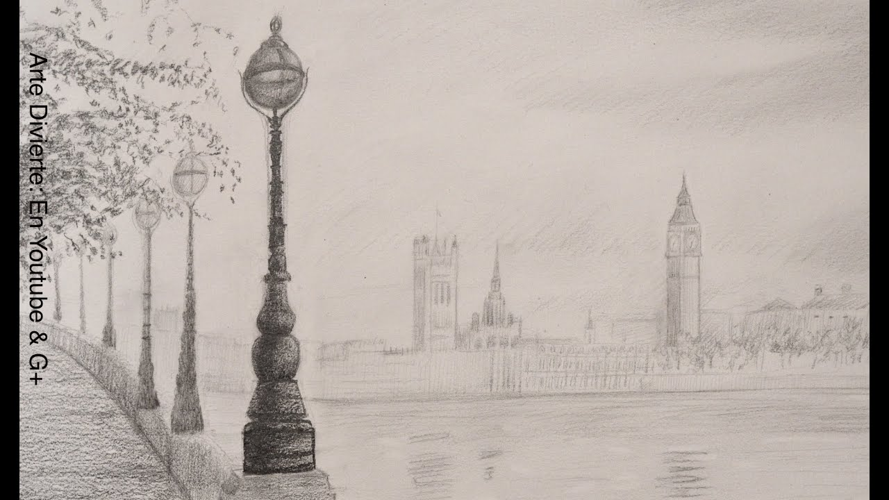 Dibujando Paisajes Como Dibujar El Big Ben Arte Divierte Youtube