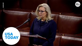 Rep. Liz Cheney gives passionate speech on House floor regarding Trump's influence | USA TODAY